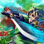 Zelda: Skyward Sword Wallpaper Beautiful Watercolor-style by Arkazain
