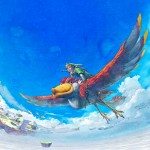 The Legend of Zelda Wallpaper (Skyward Sword) - Bird and Link Soar In the Sky and Clouds