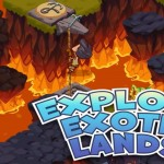 Adventure World Screenshot of Lava Level Exploration