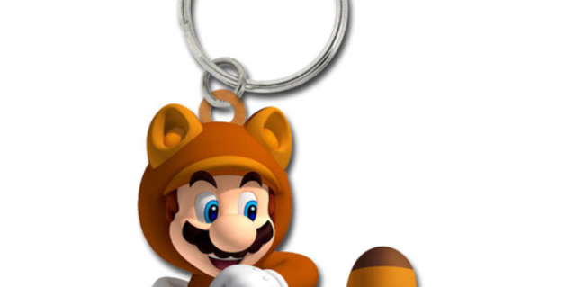 Super Mario 3D Land Tanooki Mario Keychain Pre-Order Goodie From GameStop