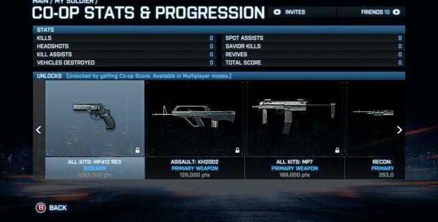 Battlefield 3 Stats and Progression MP412 REX Screenshot