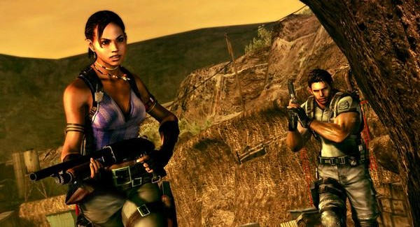 Resident Evil 5 Screenshot Chris and sheva