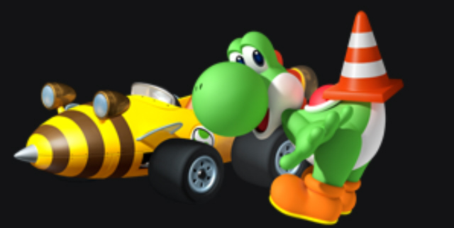 Mario Kart 7 Review Artwork of Yoshi