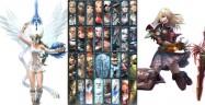 Soul Calibur 5 character select screen with Elysium and Pyrrha Omega unlocked