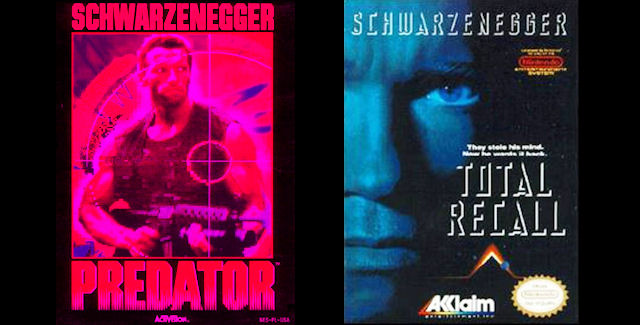 Arnold Schwarzenegger Video Game Covers