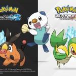 Pokemon Black and White 2 Starters Wallpaper