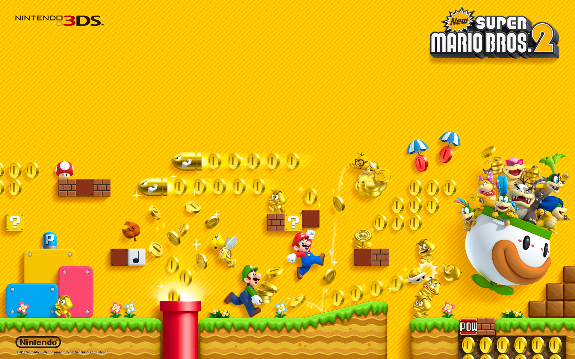 new super mario bros 2 artwork wallpaper. Black Bedroom Furniture Sets. Home Design Ideas