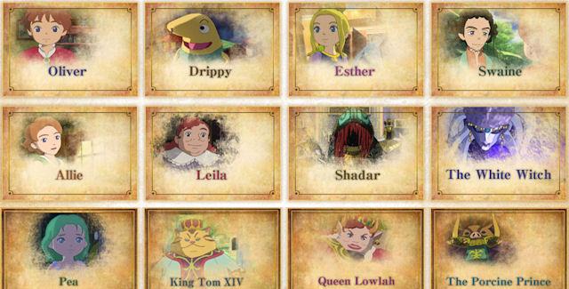 Ni No Kuni Characters List