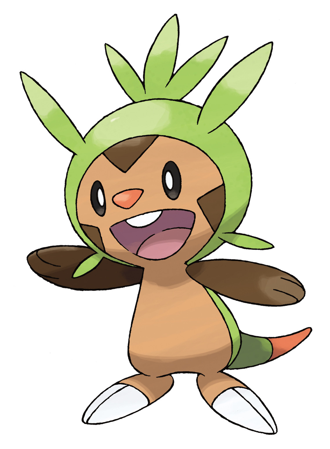 Pokemon X and Y Chespin Artwork