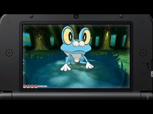 Pokemon X and Y Froakie Screenshot