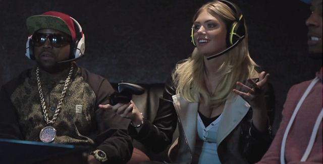 Kate Upton Plays Video Game