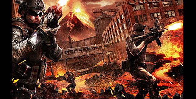 Black Ops 2: Uprising volcano artwork