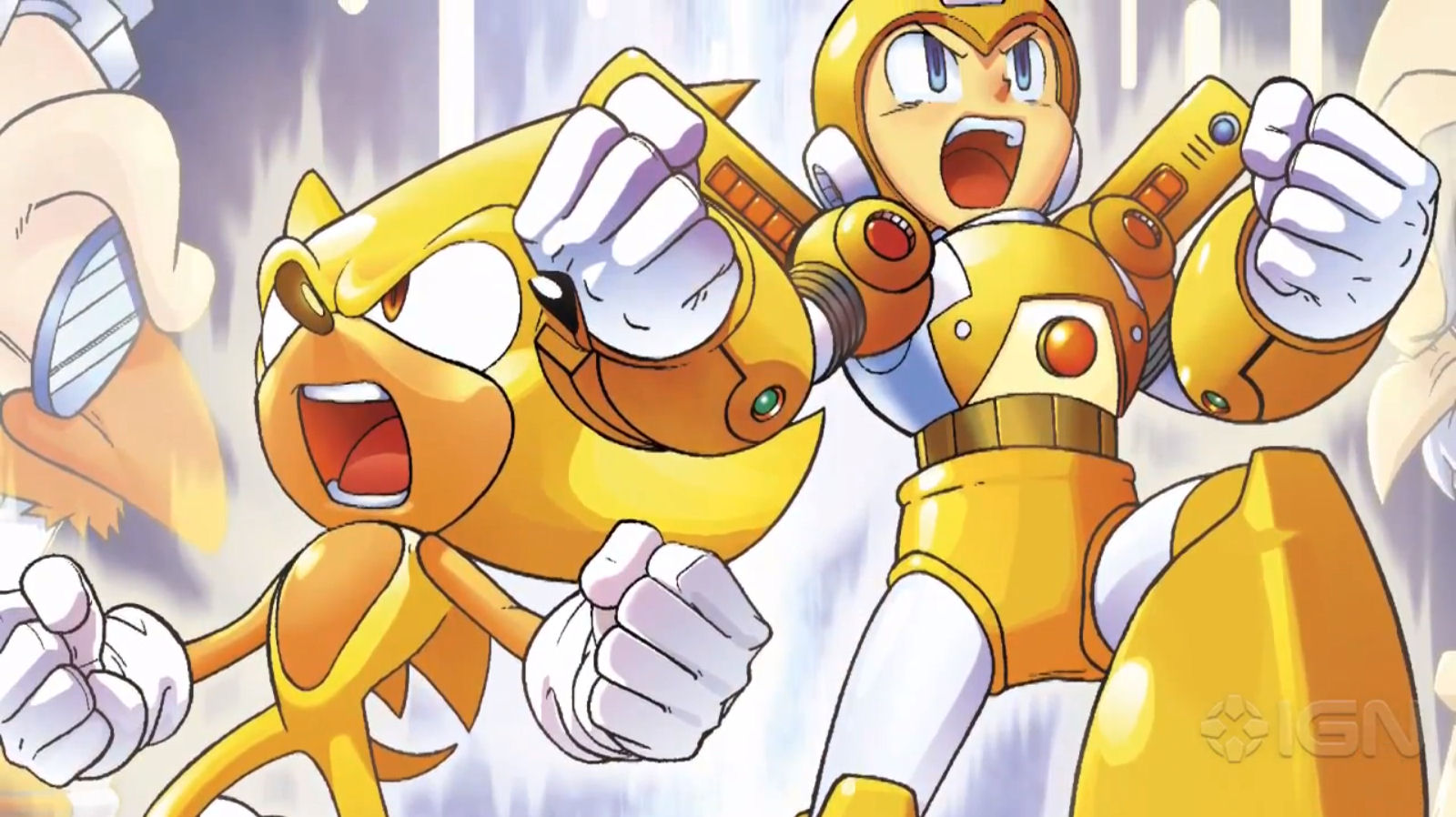 Super Mega Man and Super Sonic In Comic Book Crossover