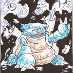 Pokemon 009 Blastoise Artwork