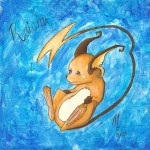 Pokemon 026 Raichu Artwork