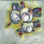 Pokemon 082 Magneton Artwork