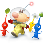 Super Smash Bros Wii U and 3DS Captain Olimar & Pikmin Artwork