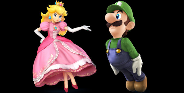 Peach & Luigi in Super Smash Bros Wii U & 3DS Roster