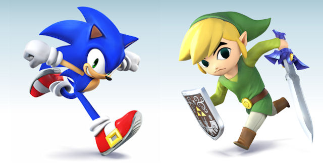 Sonic & Toon Link in Super Smash Bros. Wii U & 3DS Lineup