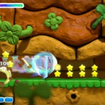 Kirby And the Rainbow Curse Giant Star Dash Kirby Gameplay Screenshot Wii U