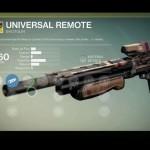 Destiny Universal Remote Exotic shotgun