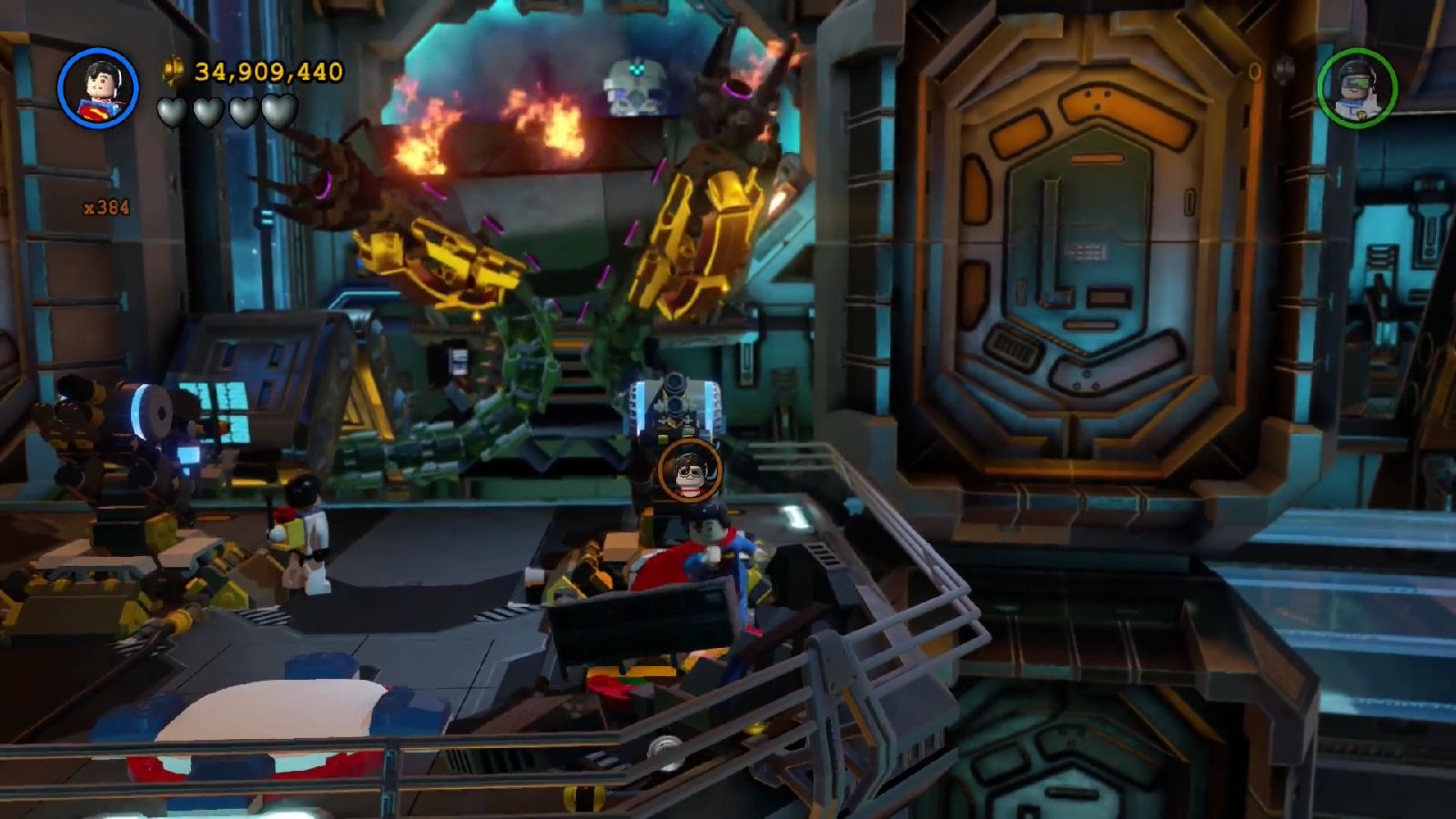 Lego Batman 3 Red Brick 5: Studs x10 Location