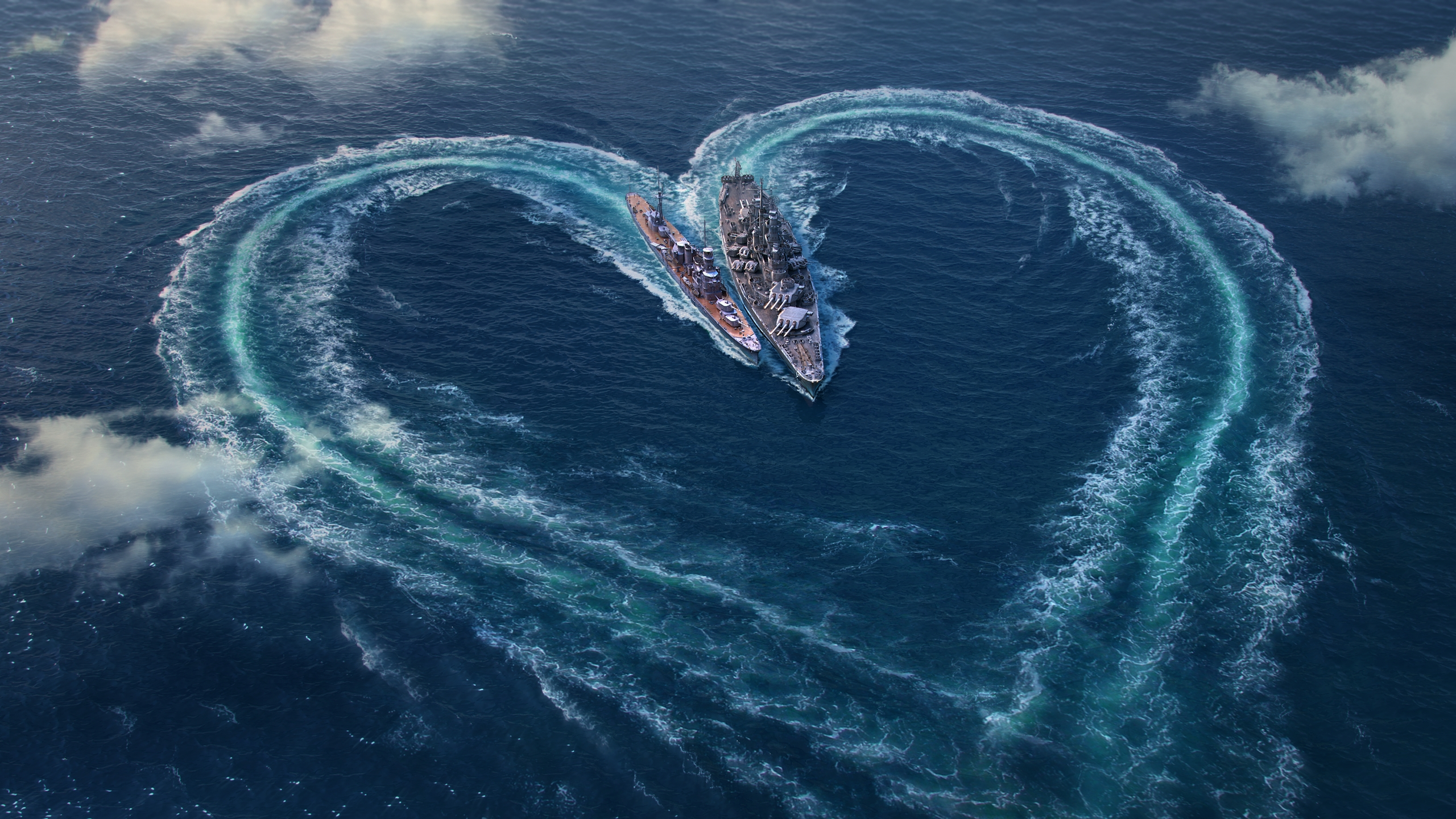 World Of Warships Wallpaper: World-of-warships-valentines-day-wallpaper