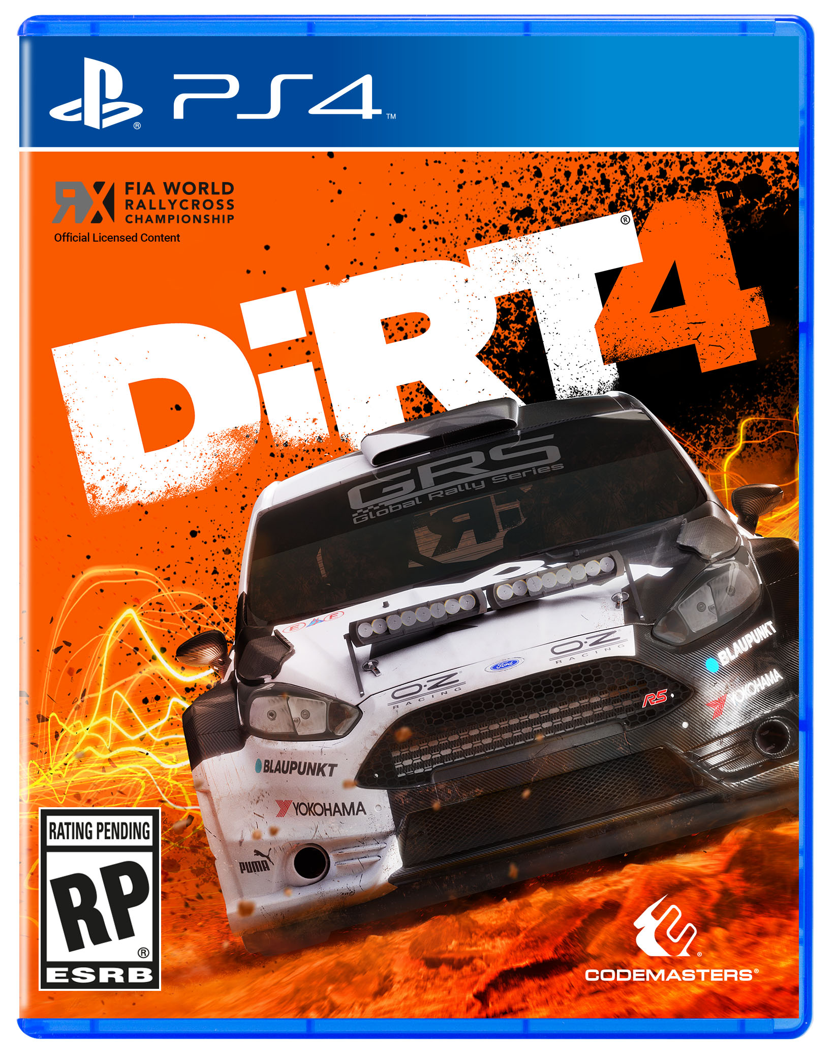 dirt 4 ps4 boxart. Black Bedroom Furniture Sets. Home Design Ideas