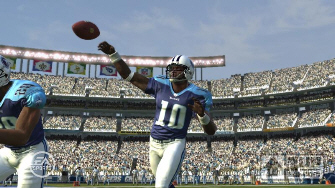 First Madden NFL 08 screenshot, Tennessee Titans Vince Young gets