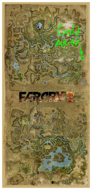 Far Cry 2 Cheat Codes To Unlock Extra Missions Guide To Find The Golden Ak 47 Location And Special Machete Video Games Blogger