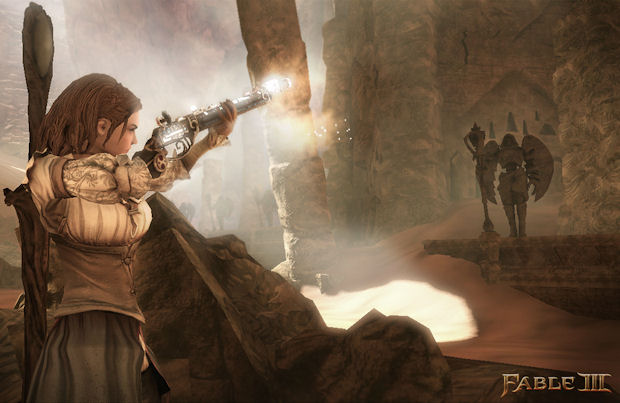 Fable 3 weapons fire screenshot
