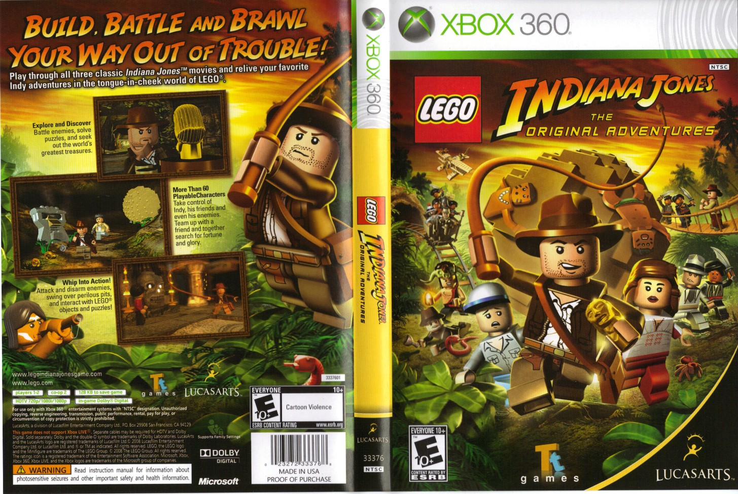 Lego Indiana Jones 1 Walkthrough Video Guide Wii Pc Ps2 Ps3