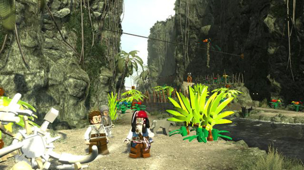 Lego Pirates of the Caribbean Red Hats screenshot. One hidden per level!