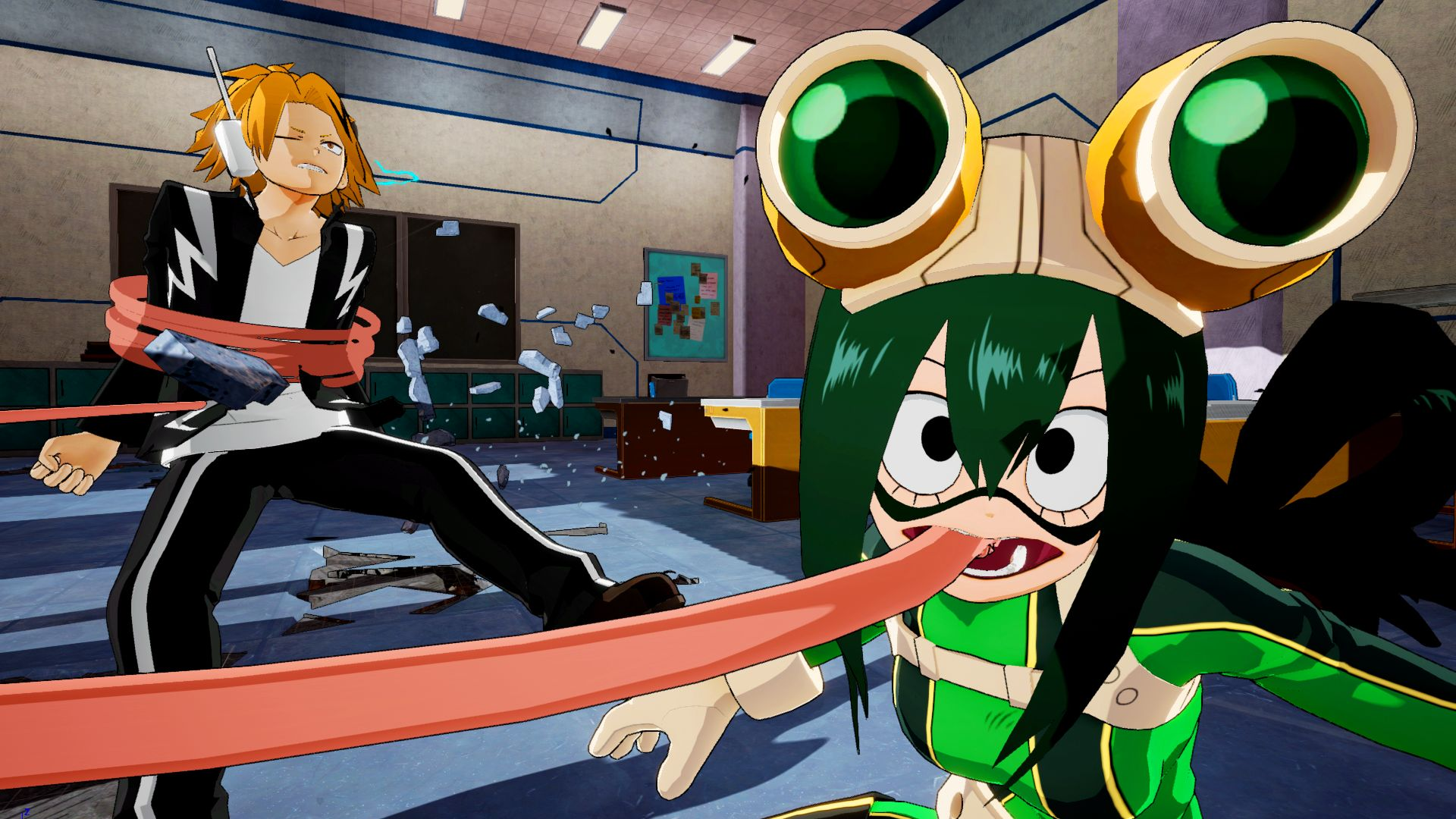 My Hero Academia One S Justice Denki Momo And Tsuyu Details And