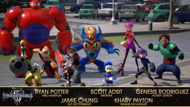 Big Hero 6 cast in Kingdom Hearts III