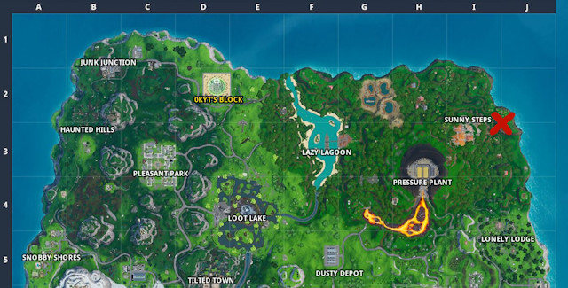 Fortnite Season 10 Week 4 Battle Star Map Location